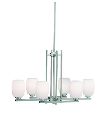 Kichler 3898NI Eileen Collection Chandelier 6 Light in Brushed Nickel