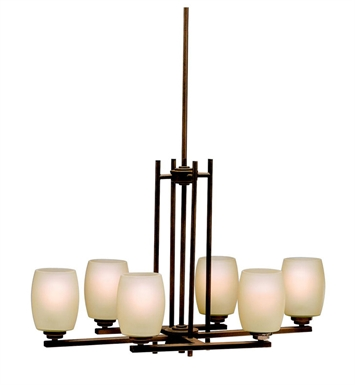 Kichler 3898OZ Eileen Collection Chandelier 6 Light in Olde Bronze