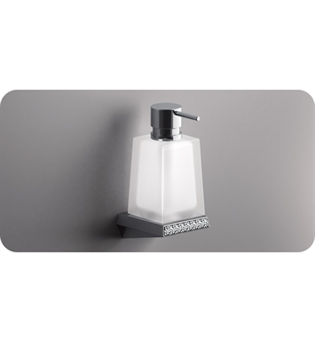 SONIA 161935 S8SWK Wall Mounted Soap Dispenser in Chrome/Glass with Swarovski Elements