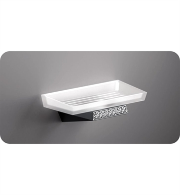 SONIA 161928 S8SWK Wall Mounted Soap Dish in Chrome/Glass with Swarovski Elements