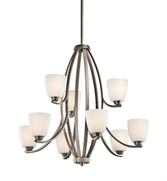 Kichler Granby Collection Chandelier 9 Light in Brushed Pewter