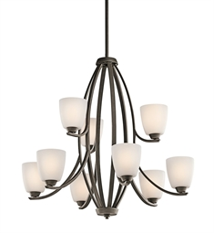 Kichler Granby Collection Chandelier 9 Light in Olde Bronze