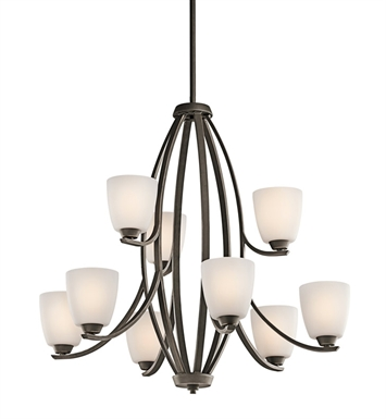 Kichler 42559OZ Granby Collection Chandelier 9 Light in Olde Bronze