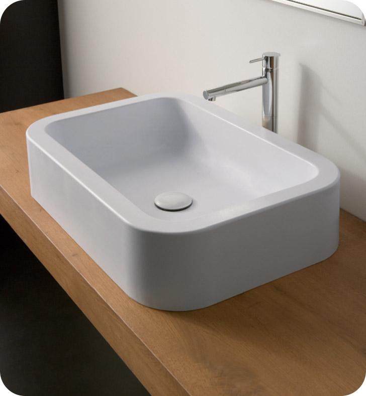 Nameeks 8307 scarabeo bathroom sink for Nameeks bathroom sinks