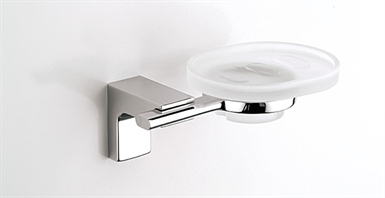 SONIA 46210026 Eletech Soap Dish in Glass/Chrome