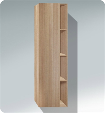 Duravit DS1249L4352 DuraStyle Tall Cabinet With Cabinet Hinge: Left Side Hinge And Body Finish: European Oak And Front Finish: Basalt Matt