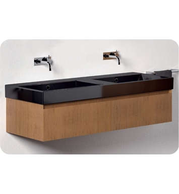 Catalano ZO1251DR-P07 Zero 125 Vanity Base Cabinet with One Drawer With Finish: Wenge Microline (Wood Grain Laminate)