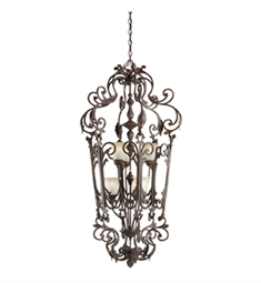 Kichler Wilton Collection Chandelier Foyer Cage 6 Light in Carre Bronze