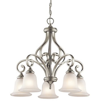 Kichler 43158NI Monroe Collection Chandelier 5 Light in Brushed Nickel