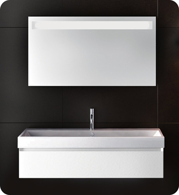 Catalano ZO1001DR-P29 Zero 100 Vanity Base Cabinet with One Drawer With Finish: Bianco Male (Soft-Touch Laminate)