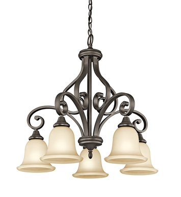 Kichler 43158OZ Monroe Collection Chandelier 5 Light in Olde Bronze