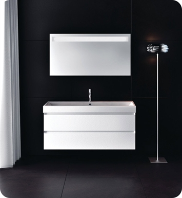 Catalano ZO1002DR-H02 Zero 100 Vanity Base Cabinet with Two Drawers With Finish: Ivory (High Gloss)