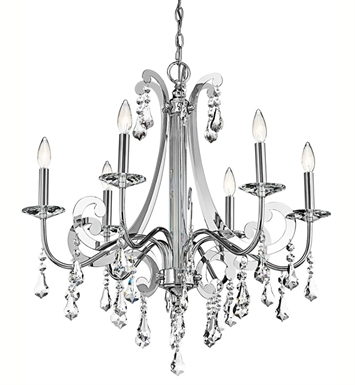 Kichler 42545CH Leanora Collection Chandelier 6 Light in Chrome