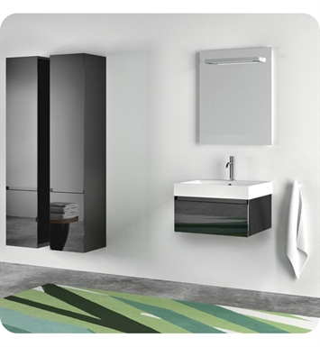 Catalano ZO0601DR-H01 Zero 60 Vanity Base Cabinet with One Drawer With Finish: Arctic (High Gloss)