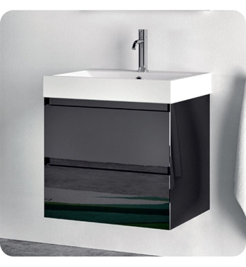 Catalano ZO0602DR-P03 Zero 60 Vanity Base Cabinet with Two Drawers With Finish: Black Flame (Pattern Laminate)