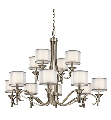 Kichler 42383MIZ Lacey Collection Chandelier 12 Light With Finish: Mission Bronze