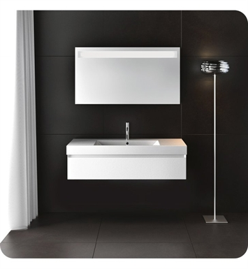 Catalano ZD1001DR-P28 Zero Domino 100 Vanity Base Cabinet with One Drawer With Finish: Zinco Doha (Soft-Touch Laminate)