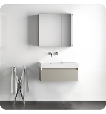 Catalano ZD0751DR-P09 Zero Domino 75 Vanity Base Cabinet with One Drawer With Finish: Frost White Flame (Pattern Laminate)