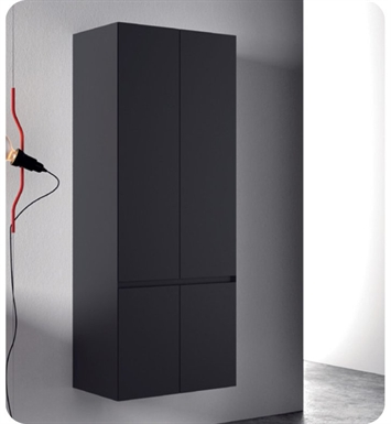 Catalano ZO0704DO-P18 Zero Tall 70 Cabinet With Finish: Nero (Soft-Touch Laminate)