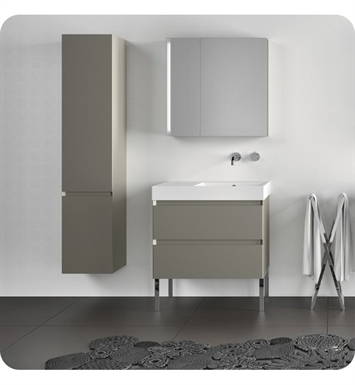 Catalano ZO0352DOR-H02 Zero Tall 35 Cabinet With Cabinet Hinge: Right Side Hinge And Finish: Ivory (High Gloss)