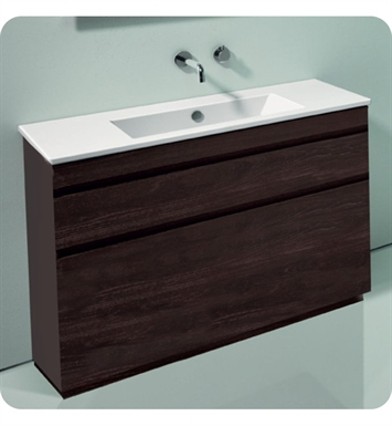 Catalano ST1052SDR-P07 Star 105 Vanity Base Cabinet with Two Drawers With Finish: Wenge Microline (Wood Grain Laminate)