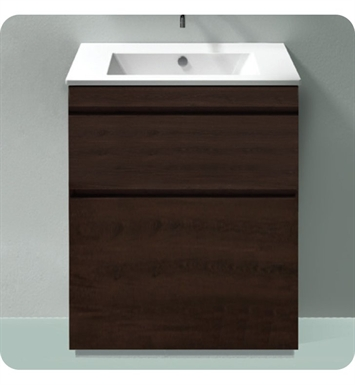 Catalano ST0802SDR-P08 Star 80 Vanity Base Cabinet with Two Drawers With Finish: Elevated Ebony High Gloss (Wood Grain Laminate)