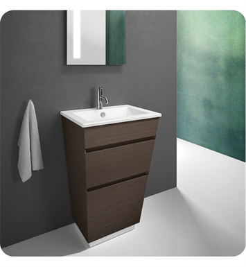 Catalano ST0582DR-V04 Star 58 Vanity Base Cabinet with Two Drawers With Finish: Ebony Safari (Wood Veneer)