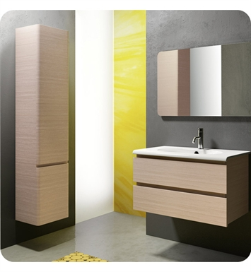Catalano SF0802DR-P09 Sfera 80 Vanity Base Cabinet with Two Drawers With Finish: Frost White Flame (Pattern Laminate)