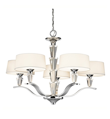 Kichler 42030CH Crystal Persuasion Collection Chandelier 5 Light in Chrome
