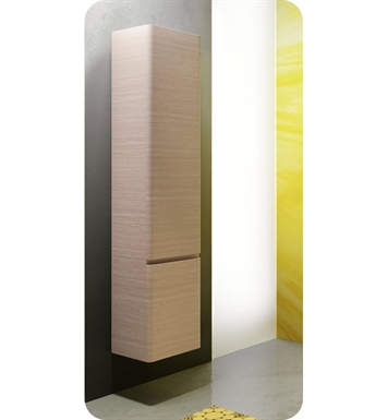 Catalano SF0352DOL-V06 Sfera Tall 35 Wall Cabinet With Cabinet Hinge: Left Side Hinge And Finish: Walnut Crown (Wood Veneer)