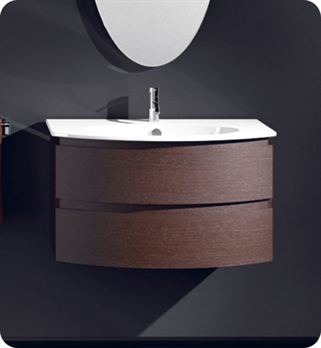 Catalano VE0802DR-P07 Velis 80 Vanity Base Cabinet with Two Drawers With Finish: Wenge Microline (Wood Grain Laminate)
