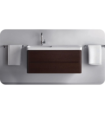 Catalano PR1402DR-H01 Proiezioni 140 Vanity Base Cabinet with Two Drawers With Finish: Arctic (High Gloss)