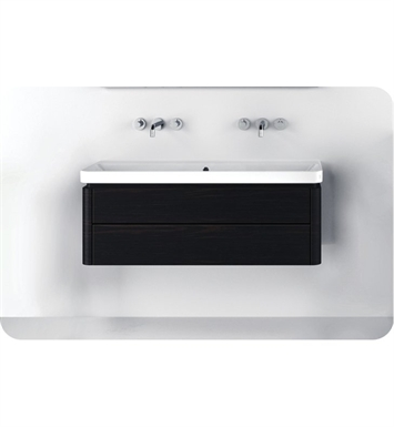 Catalano PR1252DR-P18 Proiezioni 125 Vanity Base Cabinet with Two Drawers With Finish: Nero (Soft-Touch Laminate)