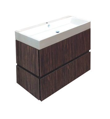 Catalano PM1002DR-P07 Premium 100 Vanity Base Cabinet with Two Drawers With Finish: Wenge Microline (Wood Grain Laminate)