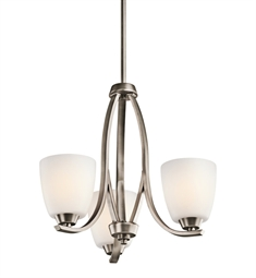 Kichler Granby Collection Chandelier 3 Light in Brushed Pewter