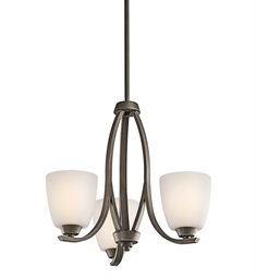 Kichler Granby Collection Chandelier 3 Light in Olde Bronze