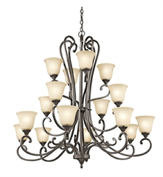 Kichler Feville Collection Chandelier 16 Light OZ in Olde Bronze