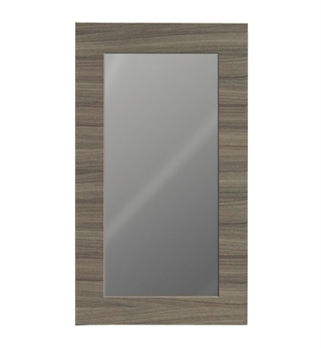 "Catalano WM055-02 20 1/4"" x 36"" New Light Framed Wall Mirror With Finish: Gloss White"