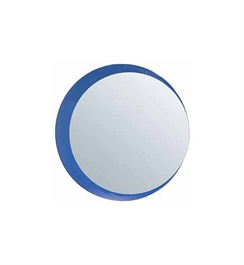 Catalano 5WM32-ML-V08 Impronta Framed Round Mirror Lighted With Finish: Ash Lati (Wood Veneer)