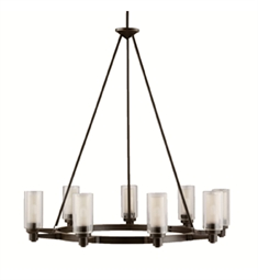 Kichler Circolo Collection Chandelier 9 Light in Olde Bronze