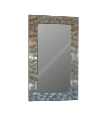 "Catalano 5WM100100-P06 39"" x 39"" Framed Wall Mirror With Finish: Grey Oak Cross Curve (Wood Grain Laminate)"