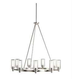 Kichler Circolo Collection Chandelier 9 Light in Brushed Nickel