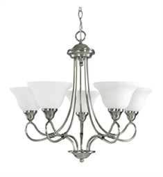Kichler Stafford Collection Chandelier 5 Light in Antique Pewter