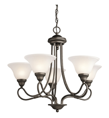 Kichler 2557OZ Stafford Collection Chandelier 5 Light in Olde Bronze