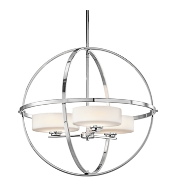 Kichler 42505CH Olsay Collection Chandelier 3 Light Halogen With Finish: Chrome