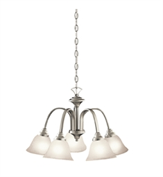 Kichler Hastings Collection Chandelier 5 Light in Brushed Nickel