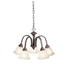 Kichler Hastings Collection Chandelier 5 Light in Tannery Bronze