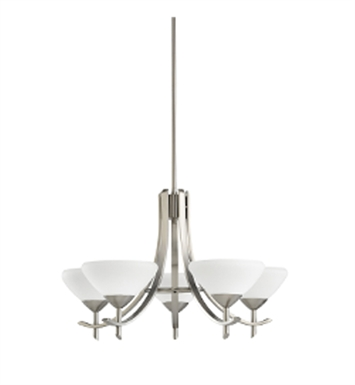 Kichler 1679AP Olympia Collection Chandelier 5 Light in Antique Pewter