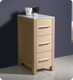 "Fresca FST6212LO Torino 12"" Bathroom Linen Side Cabinet in Light Oak"