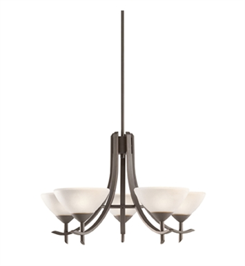 Kichler 1679OZW Olympia Collection Chandelier 5 Light in Olde Bronze